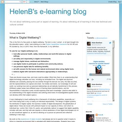 HelenB's e-learning blog: What is 'Digital Wellbeing'?