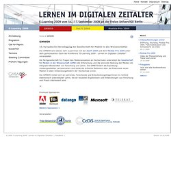 E-Learning 2009 - Lernen im Digitalen Zeitalter: GMW09