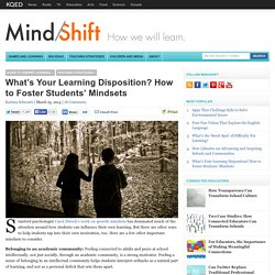 What's Your Learning Disposition? How to Foster Students' Mindsets
