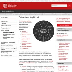 Online Learning Model - Division of Learning and Teaching