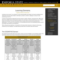 Learning Domains - Student Life Learning & Assessment
