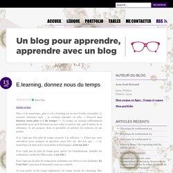 E.learning, temps et GRH