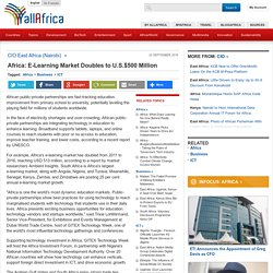 Africa: E-Learning Market Doubles to U.S.$500 Million