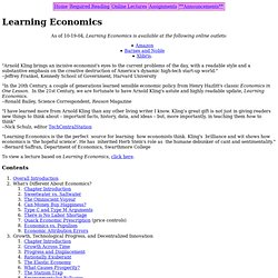 Learning Economics