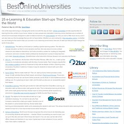 25 e-Learning & Education Start-ups That Could Change the World