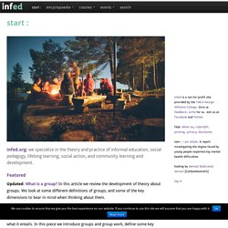 infed.org - learning, education and community