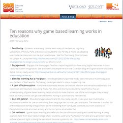 Ten reasons why game based learning works in education | connectED