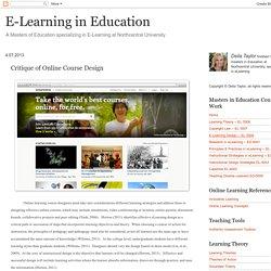 Critique of Online Course Design