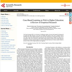 Case-Based Learning on Web in Higher Education: A Review of Empirical Research