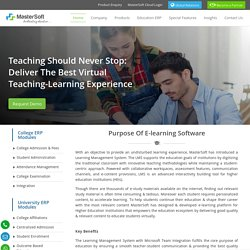 E-Learning Software for Higher Education