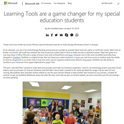 Learning Tools are a game changer for my special education students - Microsoft 365 Blog