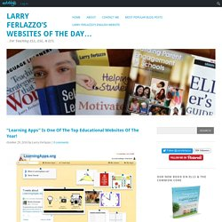 """Learning Apps"" Is One Of The Top Educational Websites Of The Year!"