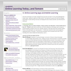 4. Online Learning Apps and Mobile Learning - eduMOOC: Online Learning Today... and Tomorrow