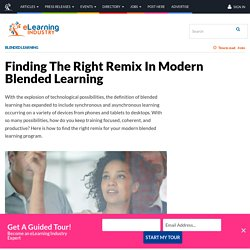 Finding The Right Remix In Modern Blended Learning - eLearning Industry