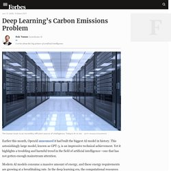 Deep Learning's Carbon Emissions Problem