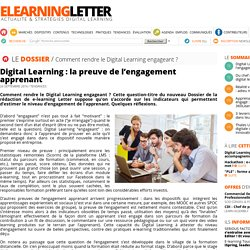 Digital Learning : la preuve de l'engagement apprenant