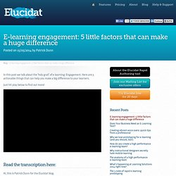 E-learning engagement: 5 little factors that can make a huge difference > Elucidat