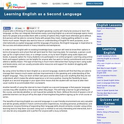 Learning English as a Second Language