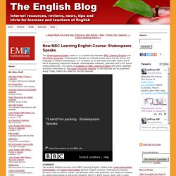 New BBC Learning English Course: Shakespeare Speaks
