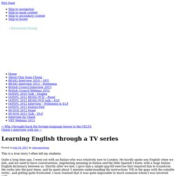 Learning English through a TV series