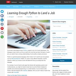 Learning Enough Python to Land a Job