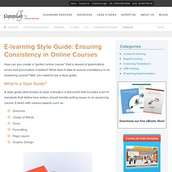 E-learning Style Guide: Ensuring Consistency in Online Courses