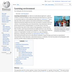 Learning environment - Wikipedia