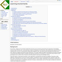 Learning environments - ALT_Wiki