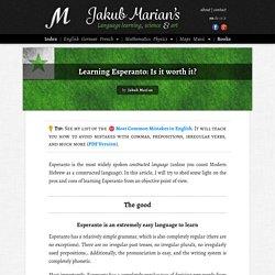 Learning Esperanto: Is it worth it?