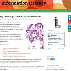 My Learning Essentials online resources