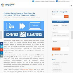 Create A Better Learning Experience by Converting PDFs into E-Learning Modules