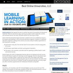 Mobile Learning in Action: Our Favorite Apps