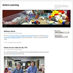 Kristin Fontichiaro's Blog About Learning, Teaching, Making Things, and Libraries