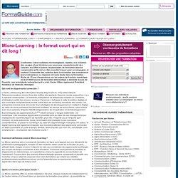 Micro-Learning : le format court qui en dit long ! - Formaguide.com