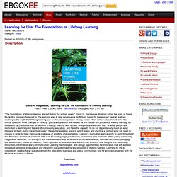 Learning for Life: The Foundations of Lifelong Learning
