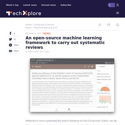 An open-source machine learning framework to carry out systematic reviews