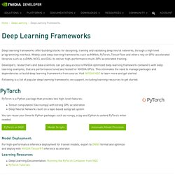 Deep Learning Frameworks