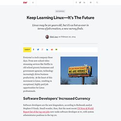 Keep Learning Linux—It's The Future