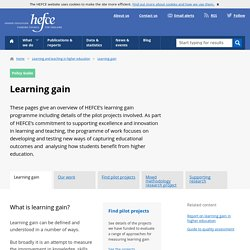 Learning gain