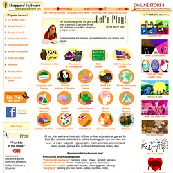 Fun web-based learning games - math, animals, geography, preschool and