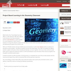 Project Based Learning in the Geometry Classroom - Getting Smart by Megan Mead - Curriki, geometry, mathchat, onlline learning, PBL, pblchat