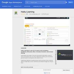 Haiku Learning - Google Apps Marketplace