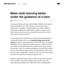 Make math learning better under the guidance of a tutor