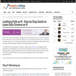 LeaRning Path on R - Step by Step Guide to Learn Data Science on R