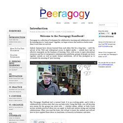 Peer-to-Peer Learning Handbook | Peeragogy.org