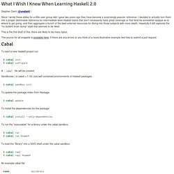 What I Wish I Knew When Learning Haskell ( Stephen Diehl )
