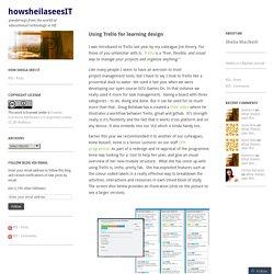 Using Trello for learning design