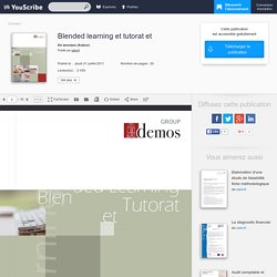 Blended learning et tutorat et - Evadoc