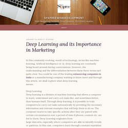 Deep Learning and its Importance in Marketing – syspreewebdevelopment
