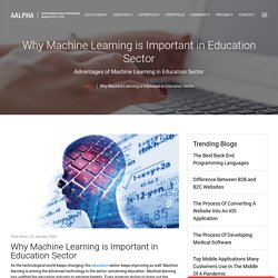 Why Machine Learning is Important in Education Sector